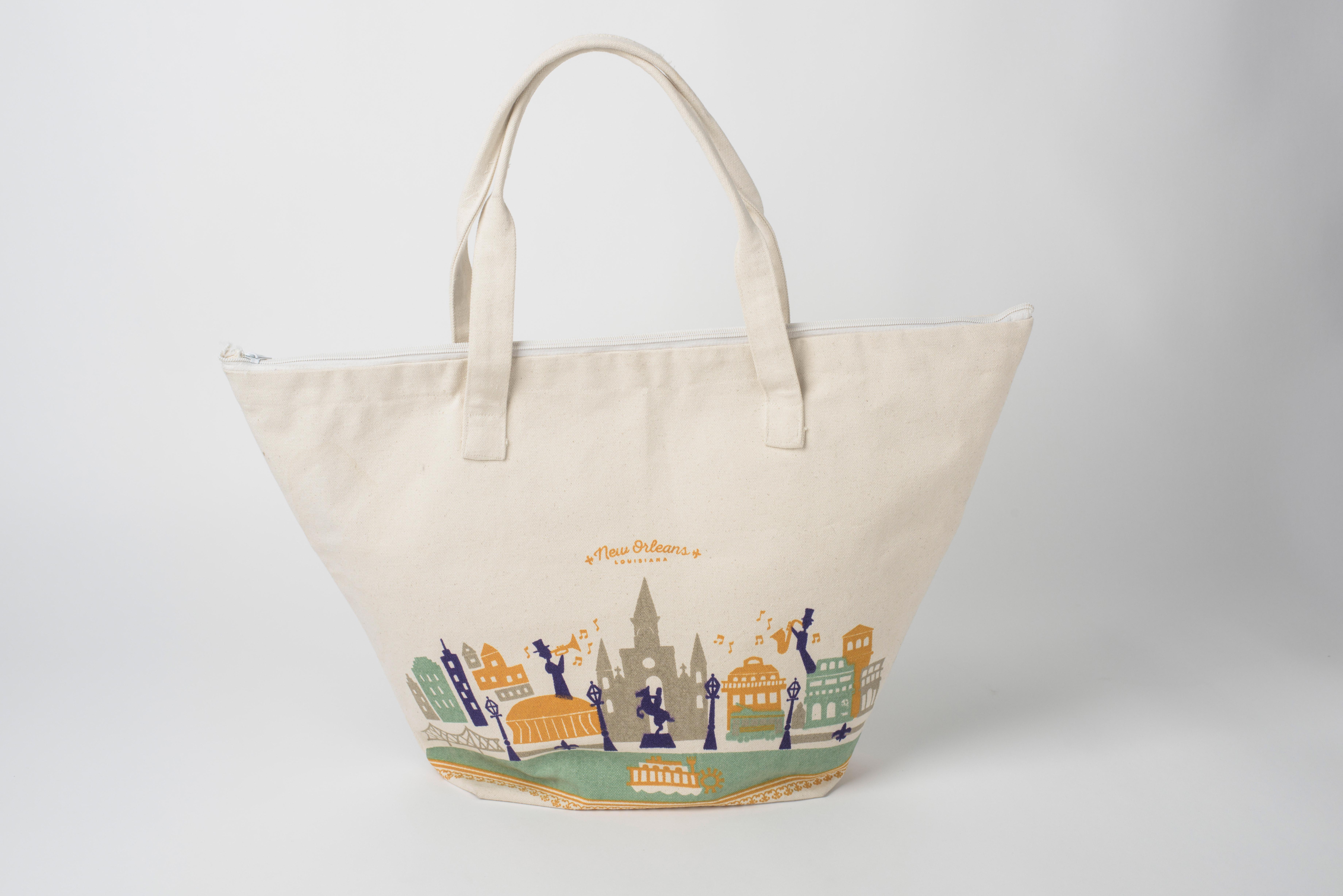 Nola Tote bag Custom New Orleans Mardi Gras Tote Bag. NOLA Party Favors New Orleans Bachelorette or Girls Weekend Tote Bag