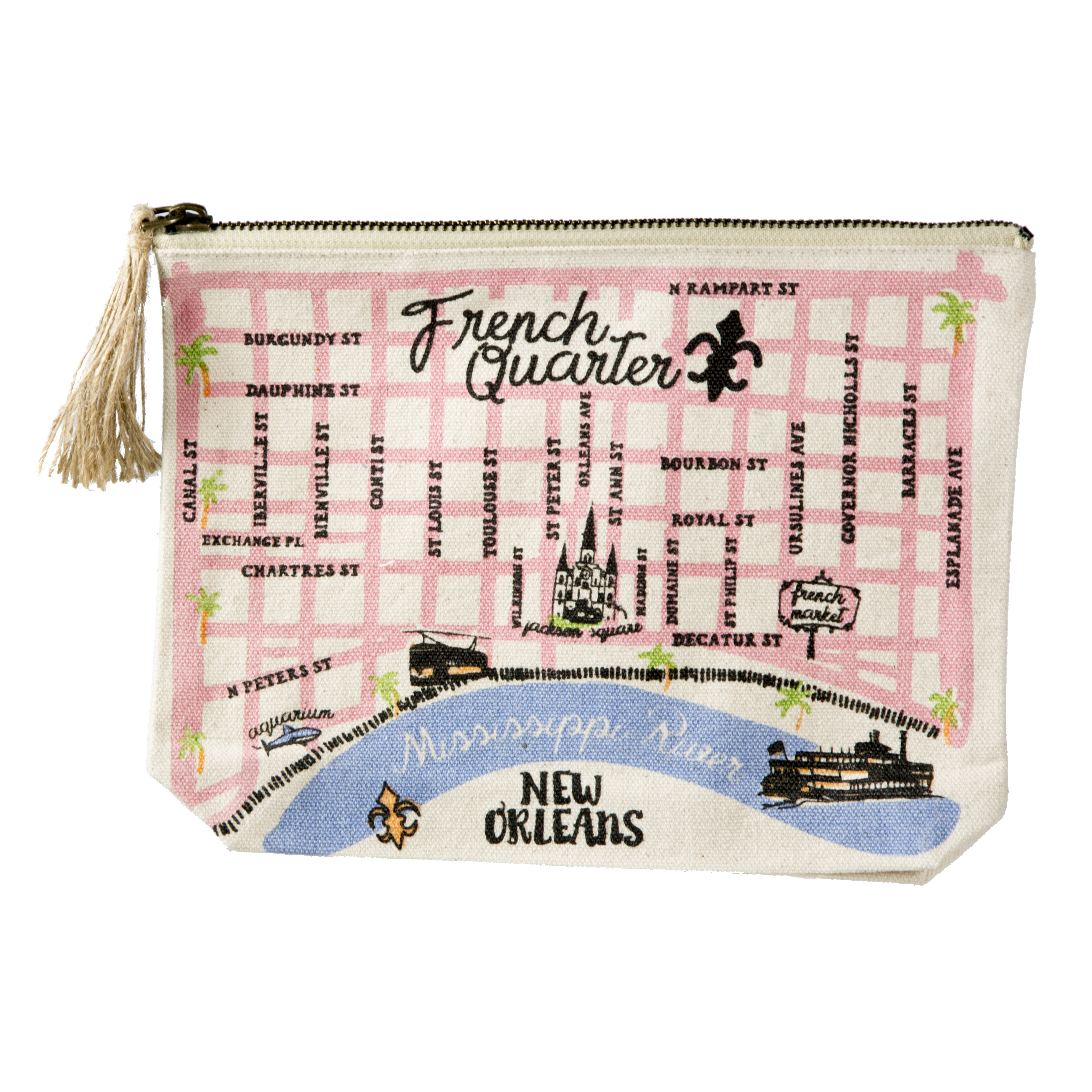 French Quarter Map Pouch The Parish Line