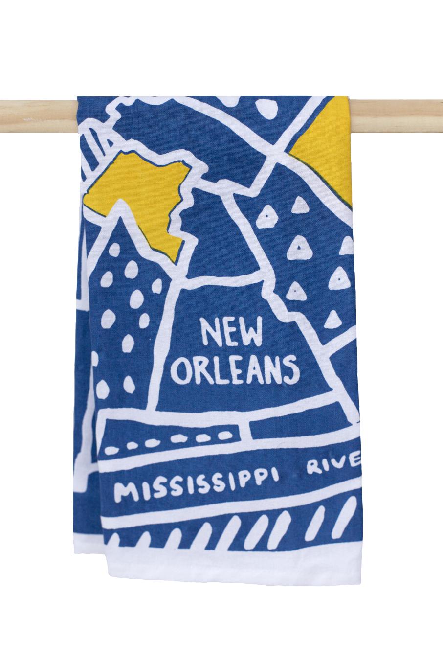New Orleans Map Kitchen Towel – The Parish Line
