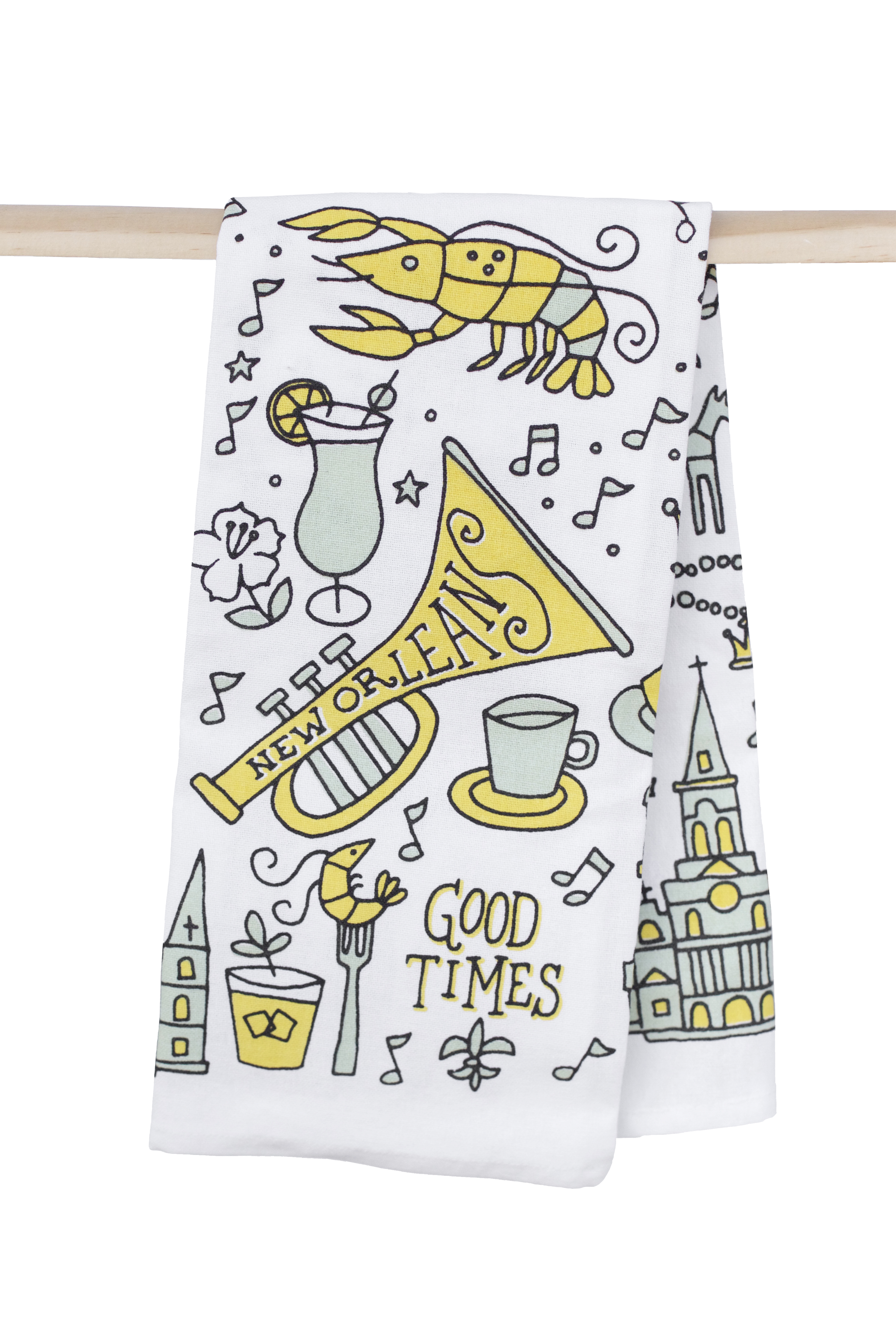 New Orleans Good Times Kitchen Towel – The Parish Line